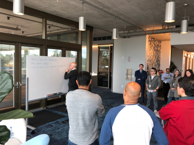 Scott Cook, Intuit founder, brainstorming on day 1 with Applatix team